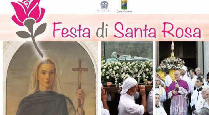 Santa Rosa: ecco tutto il programma religioso